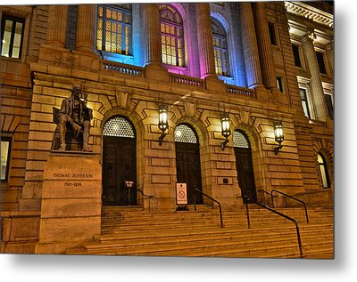 Cleveland Court House Metal Print by Frozen in Time Fine Art Photography