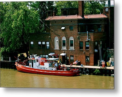 Cleveland Fire Departmentboat Metal Print by MB Matthews