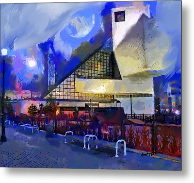 Cleveland Rocks Metal Print by Anthony Caruso