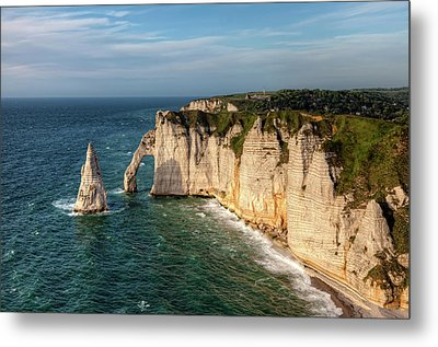 Cliff needle In Etretat, France Metal Print by Rogdy Espinoza Photography