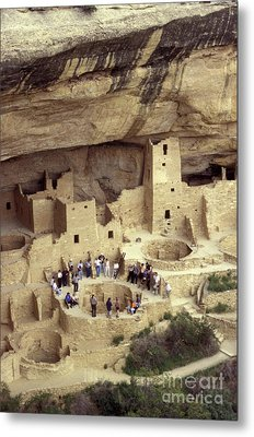 Cliff Palace Kiva Mesa Verde Metal Print by John  Mitchell