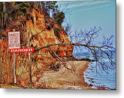 Metal Print featuring the photograph Cliffs by Kelly Reber