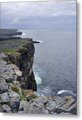 Metal Print featuring the photograph Cliffs Of Inishmore by Hugh Smith