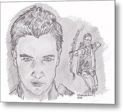 Clint Barton- Hawkeye Metal Print by Chris  DelVecchio