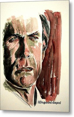 Clint Eastwood Metal Print by Francoise Dugourd-Caput