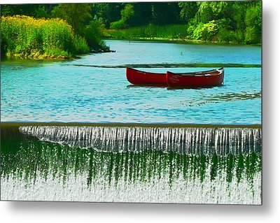 Clinton Canoes Metal Print by Artistic Photos