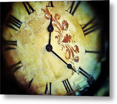 Clock 1010 Metal Print by Olivier Calas