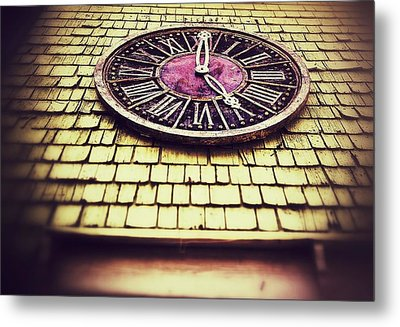 Clock 5 Metal Print by Olivier Calas