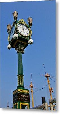 Clock At The Harbor Metal Print by Christine Burdine