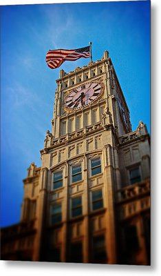 Metal Print featuring the photograph Clock Tower In Downtown Jackson 2 by Jim Albritton