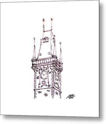 Clock Tower Metal Print by Steve Huang