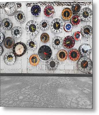 Clocks On The Wall Metal Print by Setsiri Silapasuwanchai
