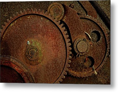 Clockwork Rust Metal Print by Odd Jeppesen