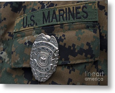 Close-up Of A Duty Master-at-arms Badge Metal Print by Stocktrek Images