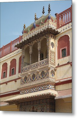 Close Up Of Blacony Of City Palace Metal Print by Marianna Sulic
