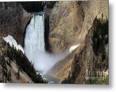 Close Up Of Lower Falls Metal Print by Living Color Photography Lorraine Lynch