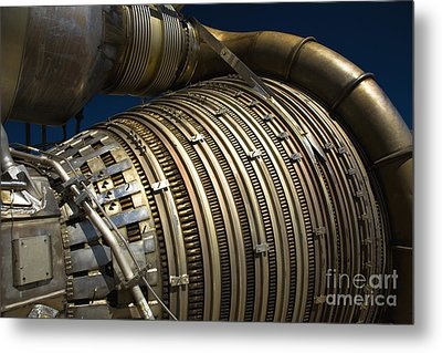 Close-up View Of A Rocket Engine Metal Print by Roth Ritter