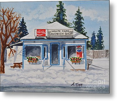 Closed For Season Metal Print by Andrea Timm