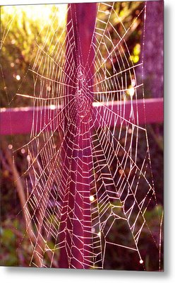 Closer To Him Cross Weaving Metal Print by Cindy Wright