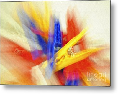 Clothes Peg Abstraction Metal Print