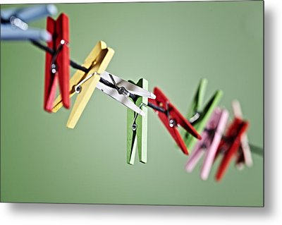 Clothes Pegs Metal Print by Joana Kruse
