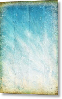 Cloud And Blue Sky On Old Grunge Paper Metal Print by Setsiri Silapasuwanchai