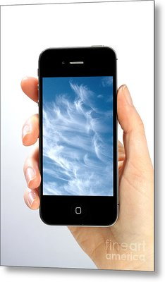 Cloud Computing Metal Print by Photo Researchers