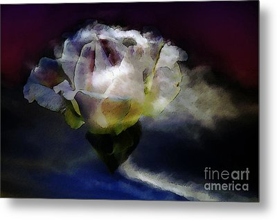 Metal Print featuring the photograph Cloud Rose Painterly by Clayton Bruster