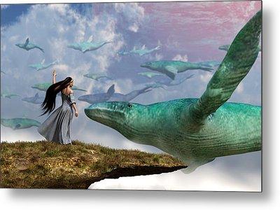 Cloud Whales Metal Print by Daniel Eskridge