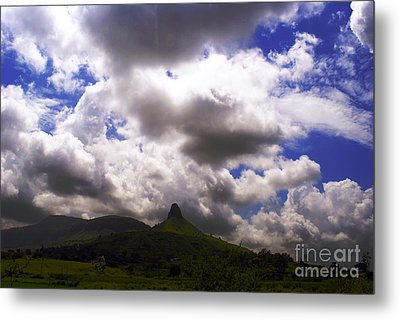 Clouded Hills At Nasik India Metal Print by Sumit Mehndiratta
