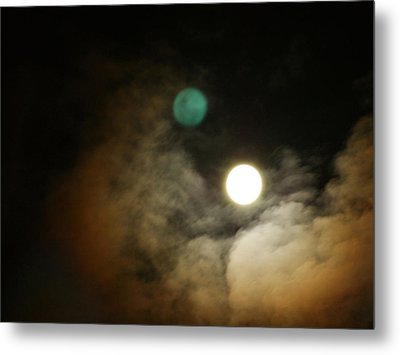Metal Print featuring the photograph Clouded Moon by Steve Sperry