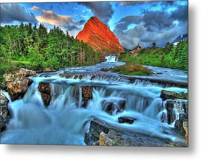 Clouds And Waterfalls Metal Print by Scott Mahon