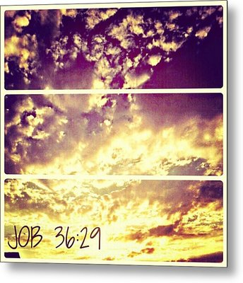 #clouds #bible #phonto #sky Metal Print by Kel Hill