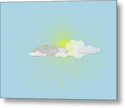 Clouds In Front Of The Sun Metal Print by Jutta Kuss
