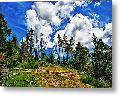 Clouds On My Hill Canada Metal Print