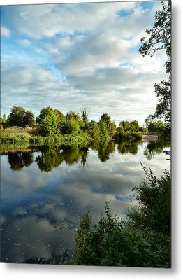 Clouds On The River Metal Print by Debra Collins