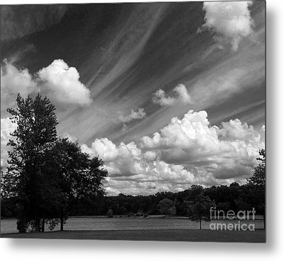 Clouds Over The Lake 1 Metal Print by Cedric Hampton