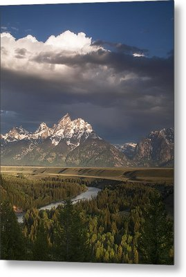 Clouds Over The Tetons Metal Print by Andrew Soundarajan