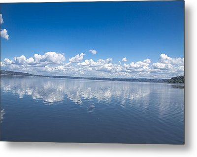 Clouds Over Water Metal Print by Julie Smith