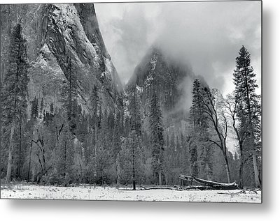 Clouds Over Yosemite Valley Metal Print by Stephen  Vecchiotti