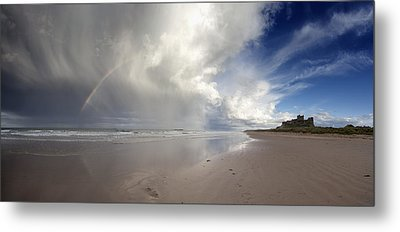 Clouds Reflected In The Shallow Water Metal Print by John Short