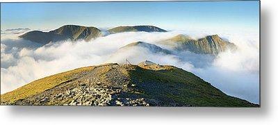 Cloudsurfing Grisedale Pike Metal Print by Stewart Smith