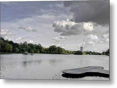 Metal Print featuring the photograph Cloudy Hyde Park by Maj Seda