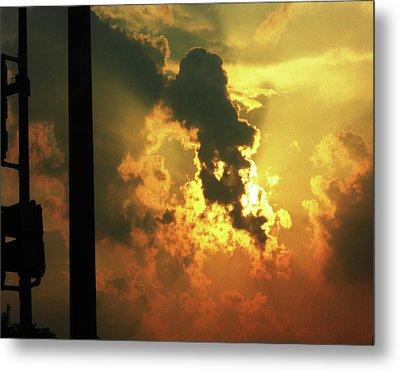 Cloudy Sun Metal Print by Saheed Fawehinmi