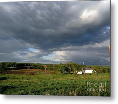 cloudy with a Chance of Paint 2 Metal Print by Trish Hale