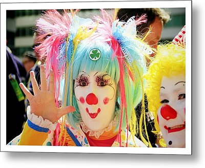 Metal Print featuring the photograph Cloverleaf Clown by Alice Gipson