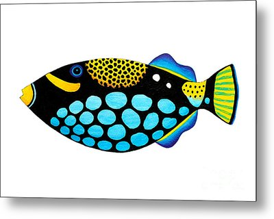 Clown Triggerfish  Metal Print by Opas Chotiphantawanon