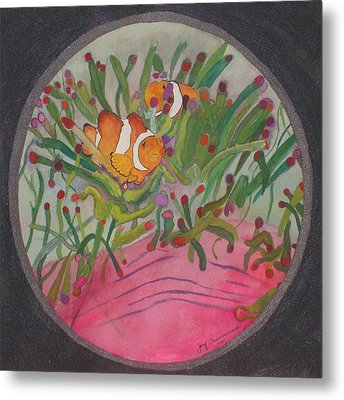 Clownfish Seen Through A Lense Metal Print