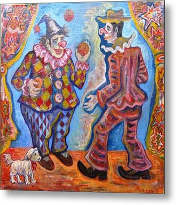 Clowns Metal Print by Milen Litchkov