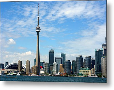 Cn Tower Metal Print by Jeff Ross